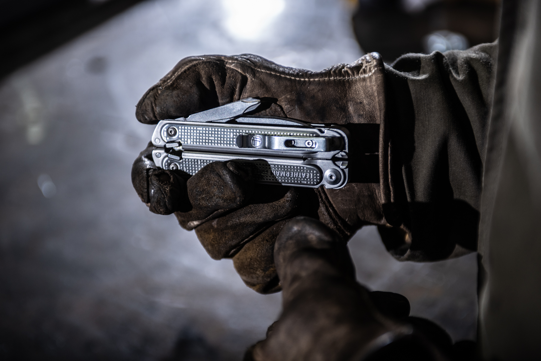 Leatherman Free in welders hand. Isaac Miller Photography  | Agriculture & Industry Photographer  |  Commercial & Editorial photography  |   Missoula + San Antonio