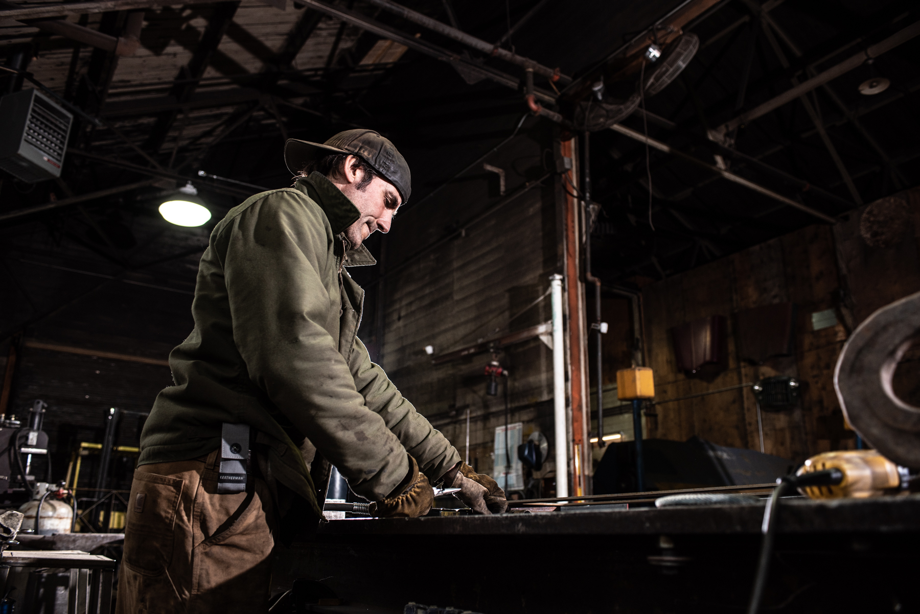 Welding in old Montana industrial building. Isaac Miller Photography  | Agriculture & Industry Photographer  |  Commercial & Editorial photography  |   Missoula + San Antonio