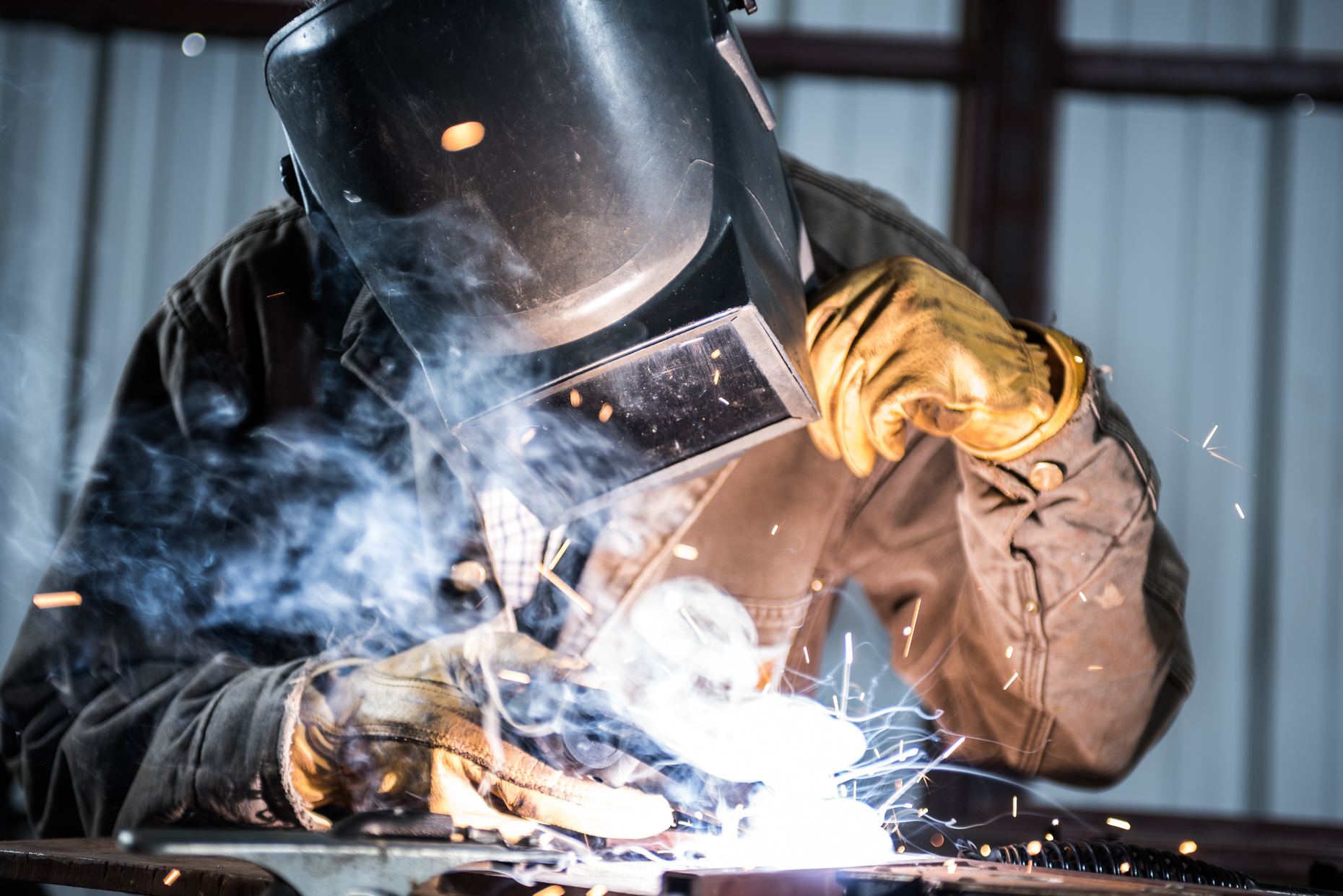 Welder in shop. Isaac Miller Photography  | Agriculture & Industry Photographer  |  Commercial & Editorial photography  |   Missoula + San Antonio